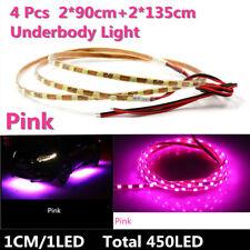 2*90cm+2*135cm 450LED Pink Purple LED Strip Car Underglow Underbody Neon Light