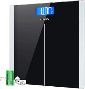 Digital Body Weight Bathroom Scale with Step-On Technology 400 Lb Body Tape