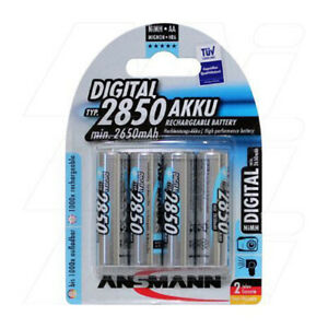 Ansmann AA 2850 mAH Ni-MH Rechargeable Batteries ANSMANN