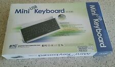 *NEW IN BOX* Mini USB Keyboard BTC 9118h with USB downstream port, Behavior Tech