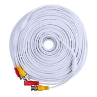 SANNCE 150ft Video Power BNC RCA Extension Cable for CCTV Security Camera System