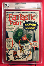 Fantastic Four #5 (Marvel 1962) PGX (not CGC) 9.0 VF/NM signed by STAN LEE!!!