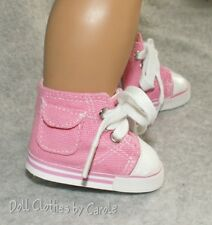 "Pink High Tops Tennis Shoes Sneakers with Pockets fit 18"" American Girl Doll"