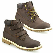 Faux Leather Boots for Boys with Hook & Loop Fasteners