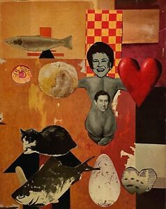 PETERS 1927-2019 NEW YORK CITY  SURREAL COLLAGE JULIA CHILD PRINCE CHARLES 1990