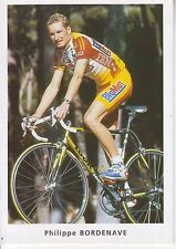 CYCLISME carte cycliste PHILIPPE BORDENAVE équipe BIG MAT AUBER 93