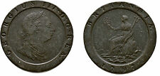 1797 Great Britain Very Large Copper 2 Pence-Nice