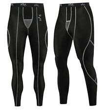 1dc195c590 Mens Compression Tights / Trousers Running Base Layer Pants Leggings BLACK