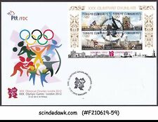 TURKEY - 2012 30th OLYMPIC GAMES LONDON M/S FDC