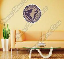 """Super Warrior Wolves Wildlife Wolf Wall Sticker Room Interior Decor 22""""X22"""""""