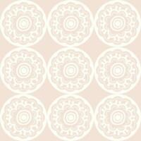 Wallpaper Designer Dwell Studio Zinnia White Abstract Floral  on Pale Pink