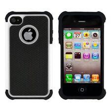 Housses et coques anti-chocs blanc iPhone 4 pour téléphone mobile et assistant personnel (PDA)