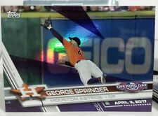 2017 TOPPS OPENING DAY TOYS R US PURPLE BORDER CARD OF GEORGE SPRINGER N0. 31