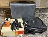 Kodak Carousel 650 Vintage Projector With Case Tray Slides Parts & Repair AS-IS