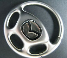 Mazda LOGO M3 M6 M1 CHROME Car Steering Wheel key Chain Ring CX-3 CX-5 CX-7