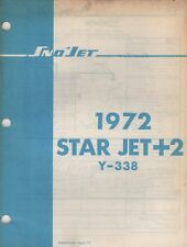 1972 Sno-Jet Snowmobile Star Jet+2, Y-338 Models Parts Manual (695)