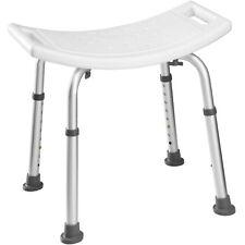 Sgabello per doccia rettangolare altezza regolabile sedile seduta alluminio bagn