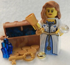 NEW LEGO PRINCESS MINIFIG minifigure castle crown queen royal royalty blue toy