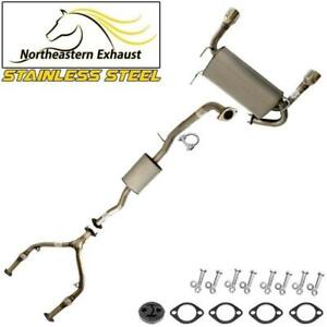 Ypipe Exhaust System Kit with Hanger + Bolts compatible with 2003-08 FX35