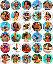 30 x moana party collection comestibles riz tranche papier cupcake toppers