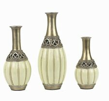 D'Lusso Designs WF15 Juliana Collection Three Vase Set -