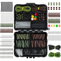 Carp Fishing Tackle Box 278pcs Lead Clips Hooks Swivels Terminal Tackle Set