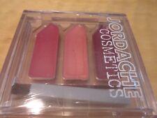 JORDACHE Cosmetics 3 Color Lip Gloss Kit with  Brush