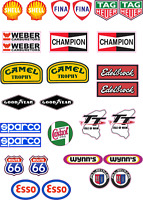 Model Racing Car RC Stickers  Slot Car Decals suit 1:5 to 1:12  Scale Miniature
