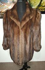 GENUINE RANCH MINK FUR jacket coat Sable Brown color