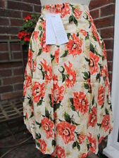 Gonne e minigonne da donna in fantasia floreale con lunghezza lunghezza al ginocchio in seta