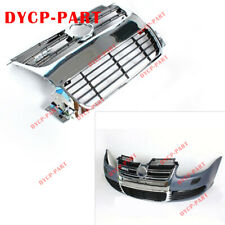 Chrome Euro R Style Front Bumper Grille Grille Vent fit for 06-09 MK5 VW Golf R3