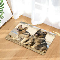 Pet German Shepherd Dog Animal Non Slip Rug Carpet Bedroom Bathroom Mat Doormat