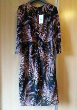 Whistles Wren Print Bodycon Silk Dress Black Uk10 12 10