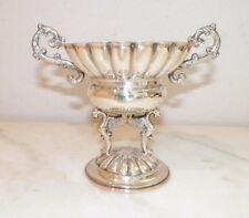"""VINTAGE SMALL PETITE SILVERPLATE COMPOTE WITH GRIFFINS 5"""" MADE IN SPAIN"""