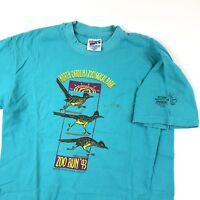 VTG 90s T Shirt Roadrunner Animal Print Graphic North Carolina Zoo Run Sz m USA