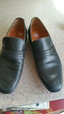 GRENSON Mens Grey Leather Formal Casual Shoes Loafers strap over  Size 8 UK