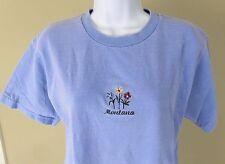 Comfort Colors Women's Light Blue Montana Short Sleeve Tee Shirt Size Small