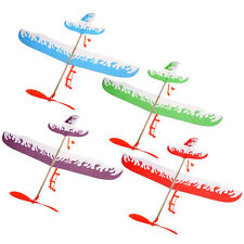 Elastic Foam Powered Glider Plane Flying Thunderbird Kit Model Toy Aircraft Gift