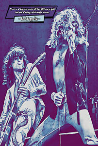 Led Zeppelin Comic Icons Art Print (Available In 4 Formats)