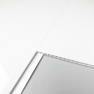 10 White Gloss Bathroom Panels Ceiling Cladding Shower Wall Kitchen PVC 5MM