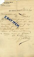 1896 JAMES HIRAM EARP San Antonio CORSICANA Texas MEDICAL DOCTOR Oklahoma City