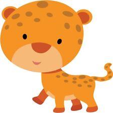 30 Custom Baby Cartoon Leopard Personalized Address Labels