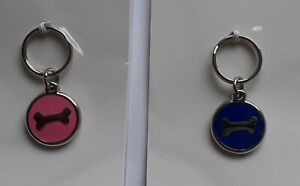 Dog TAG Engraved On Rear - 22mm Blue or Pink