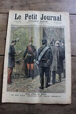 Petit journal illustré N°128 1893 Coup d'état Serbie - Emeutes en Belgique