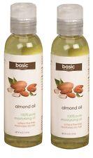 Basic Essentials Almond Body Oil 4 oz.- 100% Pure Moisturizing Oil - 2 Pack