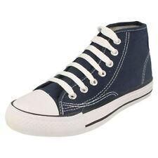 Chaussures bleus à lacets en toile pour fille de 2 à 16 ans