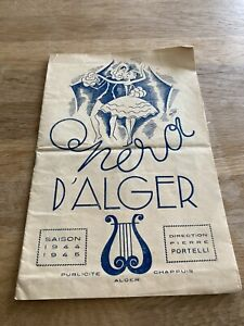 Opera D'Alger Programme 1944-45
