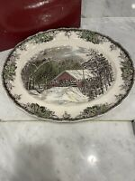 """Johnson Brothers The Friendly Village 15"""" Oval Serving Platter WITH BOX!"""