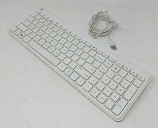 HP KBAH21, Wired Slim Keyboard, White, English