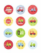 CARS TRUCKS Edible Cupcake Image Frosting Sheet Cookie Toppers PERSONALIZED!